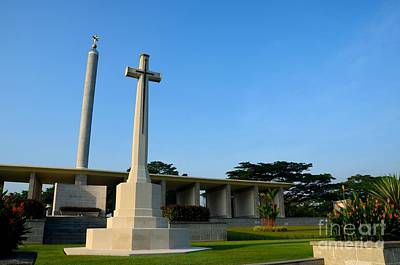 Commonwealth War Graves Commission Kranji Memorial Cemetery Monument Singapore Poster by Imran Ahmed