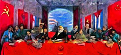 Communist Last Supper Poster by Leonardo Digenio