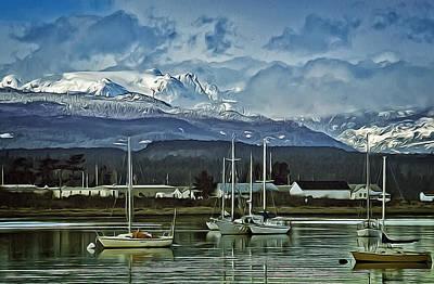 Comox Glacier Overlooking Comox Harbor Poster
