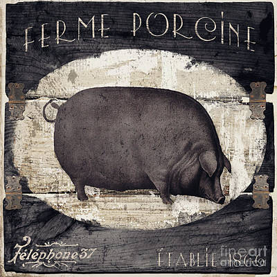 Compagne II Pig Farm Poster by Mindy Sommers