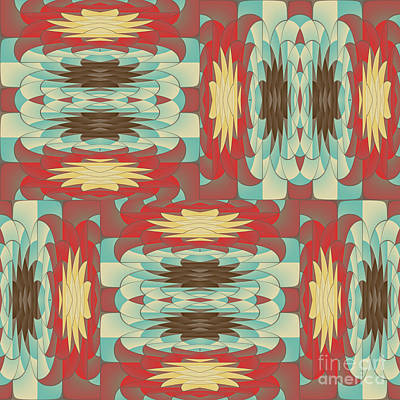 Complex Colorful Pattern Poster