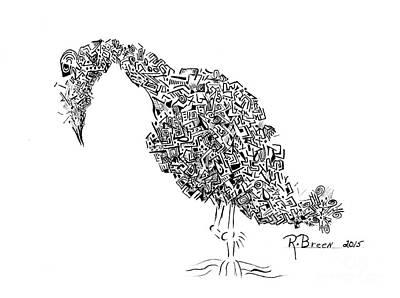 Component Bird Poster by Ronda Breen
