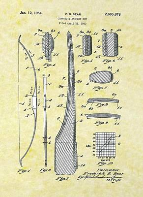 Composite Archery Bow Bear Patent Poster