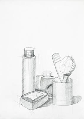 Composition With Objects Poster