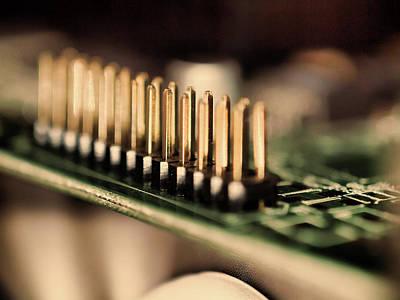 Computer Board Gold Pins Poster