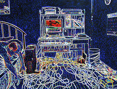 Computers And Wires Poster