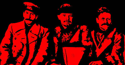 Comrades Stalin Lenin And Kalinin Poster