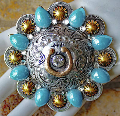 Concho Belt Buckle Poster by Katherine Sutcliffe