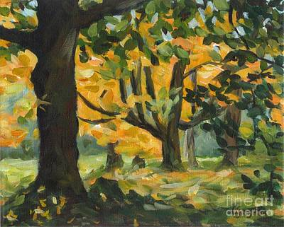 Concord Fall Trees Poster by Claire Gagnon