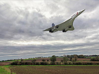 Concorde - High Speed Pass Poster by Paul Gulliver