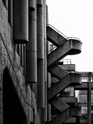Concrete Stairways Poster by Philip Openshaw