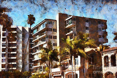 Condos At Newport Beach Poster by Gabe Aguilar