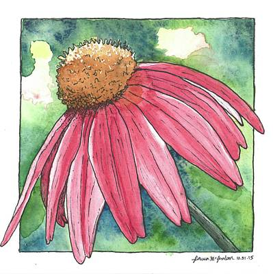 Cone Flower Poster by Laura McLendon