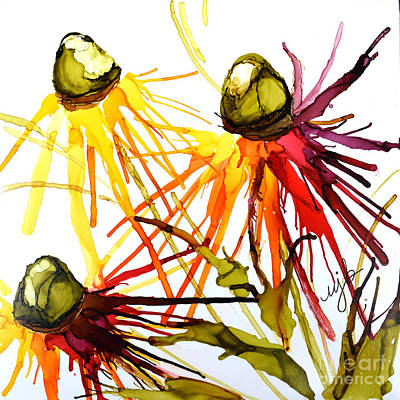 Coneflower Cocktail Poster by Marla Beyer