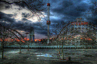 Coney Island Poster by Bryan Hochman