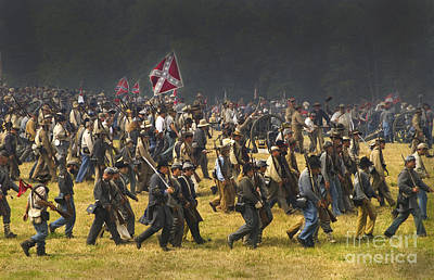Confederate Charge At Gettysburg Poster