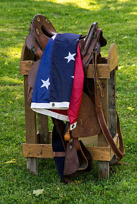 Confederate Flag And Saddle Poster