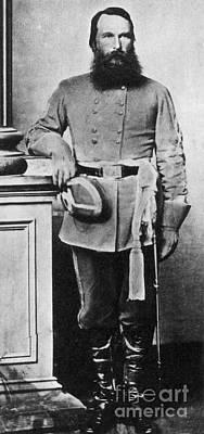 Confederate General James Old War Horse Poster