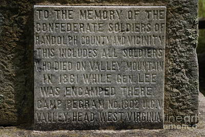 Confederate Solider Monument Poster