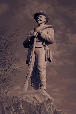 Confederate Statue  Standing Guard Poster