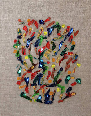 Poster featuring the painting Confetti by Deborah Boyd