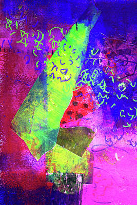 Poster featuring the mixed media Confetti by Nancy Merkle