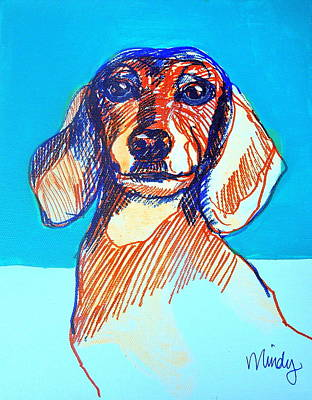 Confident Dachsund Poster by Melinda Page