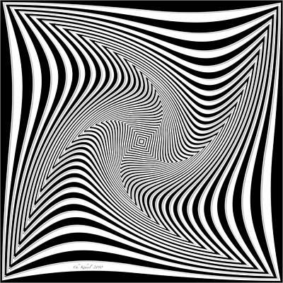 Confusion In Black And White Poster