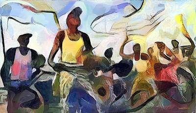 Congo Dance Poster by Wayne Pascall
