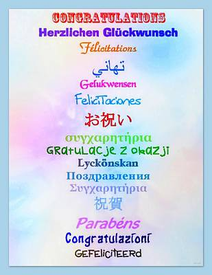 Congratulations Poster by Linda Galok