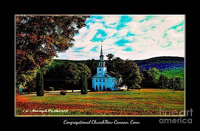 Congregational Church Of Canaan, Connecticut Poster