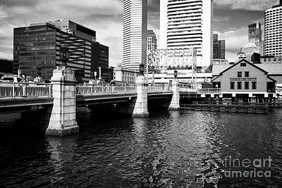 congress street bridge and Boston tea party museum site USA Poster