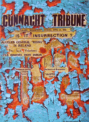 Connacht Tribune 1916 Poster by Tomas OMaoldomhnaigh