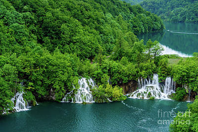 Connected By Waterfalls - Plitvice Lakes National Park, Croatia Poster