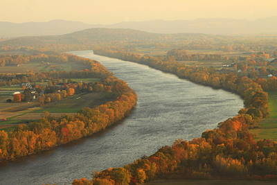 Connecticut River Mount Sugarloaf Poster by John Burk