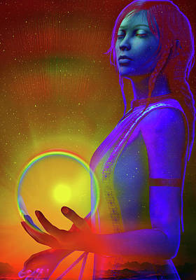 Poster featuring the digital art Consciousness by Shadowlea Is