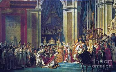 Consecration Of The Emperor Napoleon Poster by MotionAge Designs