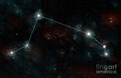 Constellation Of Aries Poster by Marc Ward