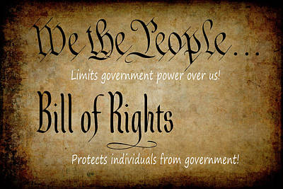 Constitution And Bill Of Rights Themes Poster