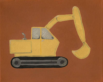 Construction Digger Poster by Katie Carlsruh