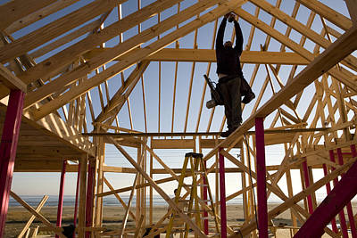 Construction On A New Home Where Poster by Tyrone Turner