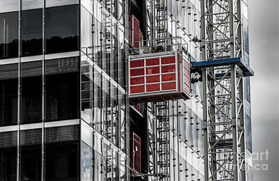 Construction Season Begins - Skyscraper - Utah Poster by Gary Whitton
