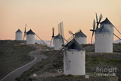 Poster featuring the photograph Consuegra Windmills by Heiko Koehrer-Wagner