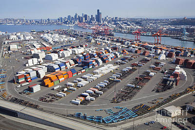 Containers At The Port Of Seattle Poster