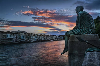 Contemplating Life In Basel Poster by Carol Japp