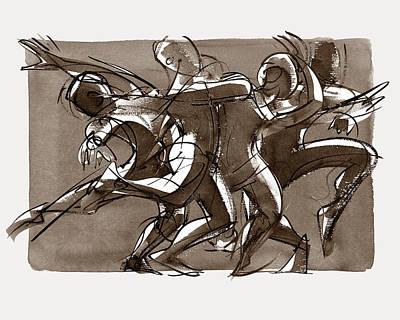 Contemporary Dance Quartet - Lucky Plush, Chicago Poster