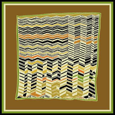 Poster featuring the digital art Contemporary Kuba Cloth by Vagabond Folk Art - Virginia Vivier
