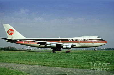 Continental Airlines Boeing 747-243b, N605pe, October 1988 Poster