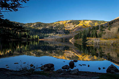 Contract Lake Fall Morning Poster