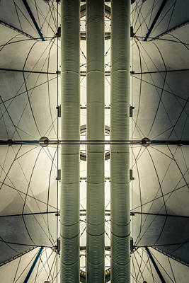 Poster featuring the photograph Convention Center Ceiling by Alexander Kunz
